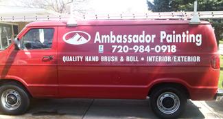 ambassador painting van
