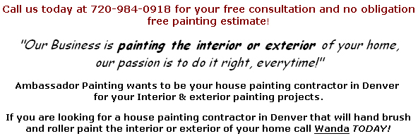Interior House Painting Denver