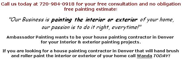 Painting Contractor Centennial Colorado