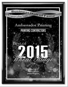Ambassador House Painting Business Hall of Fame award